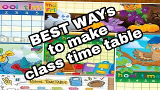 Ideas of school and classroom time table chartst way to make bulletin board also categorias de videos timetable rh showclipaz