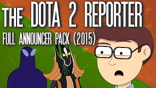 The DOTA 2 Reporter FULL Announcer Pack [2015, Discontinued]