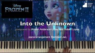 Frozen 2: Into the Unkwnown piano cover intermediate - vereinfachte Klavierversion auf weißen Tasten