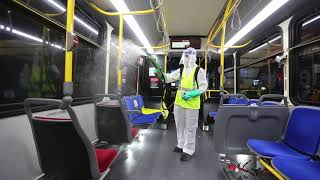 How does the TTC deep clean their vehicles during COVID-19