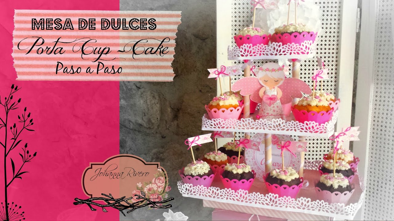 Como decorar mesa de dulces scrapbook porta cup cake paso for Ideas para decorar mesa de dulces