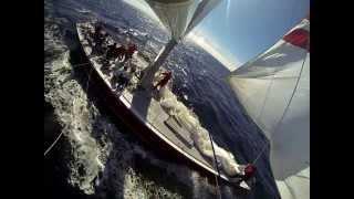 American Eagle 12 meter sailing