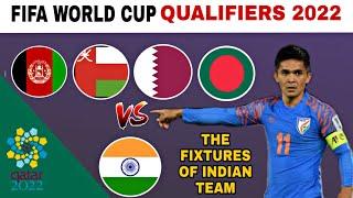 Fifa International Match Calendar 2022.Indian Football Team Fifa World Cup 2022 Qualifiers Fixtures Youtube