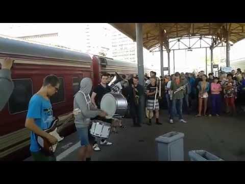 Москва. Курский вокзал. Группа Street Band .21.09.14