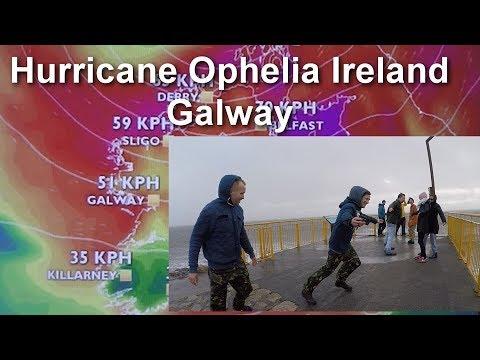 Hurricane Ophelia Ireland /Galway/red alert/Huragan Ophella 16.30pm