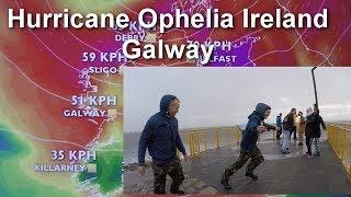 Hurricane Ophelia Ireland /Galway/red alert/Huragan Ophelia 16.30pm