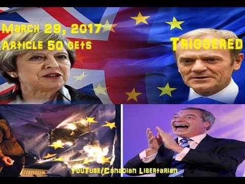 "Article 50 ""Triggered"" - UK hands EU Divorce papers"