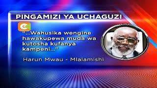 Aliyekuwa Mbunge wa Kilome Harun Mwau aelekea mahakamani kupinga ushindi wa Rais Kenyatta