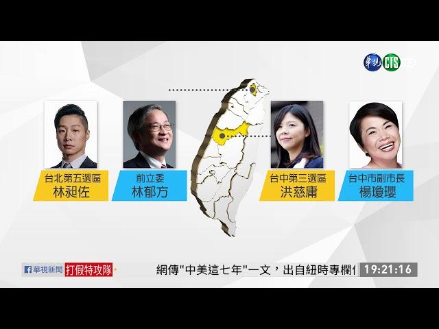 挺時力黃國昌? 沈發惠退出立委選舉 | 華視新聞 20190626