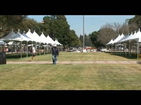 Preparations For The Los Angeles Times Festival Of Books At UCLA