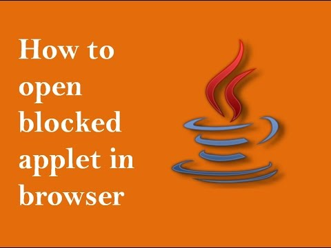 How to run blocked java applet in browser