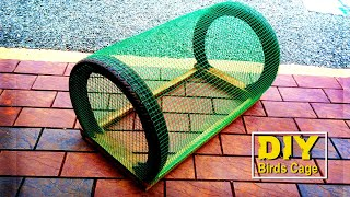 Amazing idea To Make Chicken Cage Using Iron Net and Bike Tyre   How To Make Birds Cage