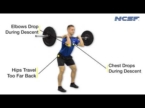 Front Squat - Elbows Dropping