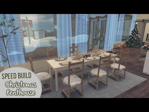 CHRISTMAS PENTHOUSE (Part 1) + #MariaSimsQandA | The Sims 4 Speed Build