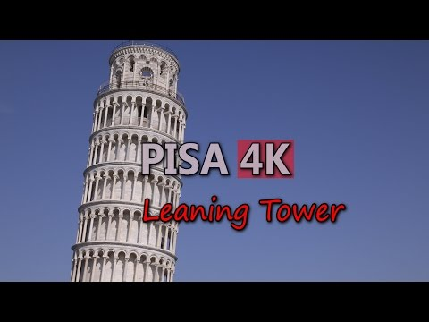 Ultra HD 4K Pisa Travel Italy Tourism Leaning Tower Italian Tourist Sight UHD Video Stock Footage