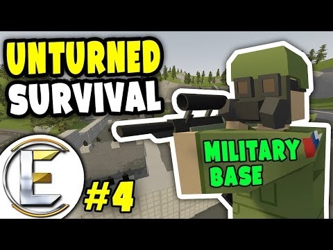 Looting Military base and Silo 22 | Unturned Survival Series #4 - Looking for LEGENDARY LOOT