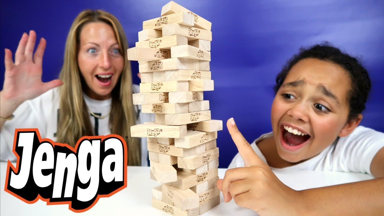 Crazy Jenga Challenge Family Fun Video Youtube