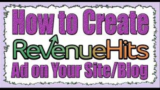Revenuehits Reklam Oluşturmak ve Site/Blog (İngilizce)Koymak nasıl