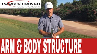 Get your Arms and Body Working Together with this Triangle Drill using the Tour Striker S.A.M.I.