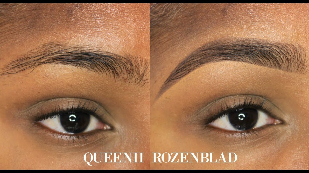 Natural Eye Brow Tutorial Using Pencil Queenii Rozenblad Youtube