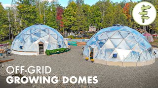 Brilliant Off-Grid Geodesic Greenhouse Perfect for Homesteading & 4 Season Food Production