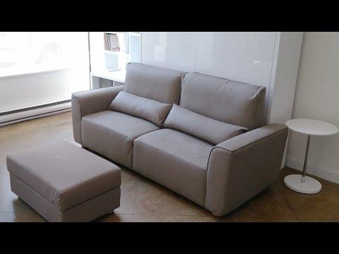 MurphySofa Minima Wall Bed Sofa with Storage Ottoman Demo