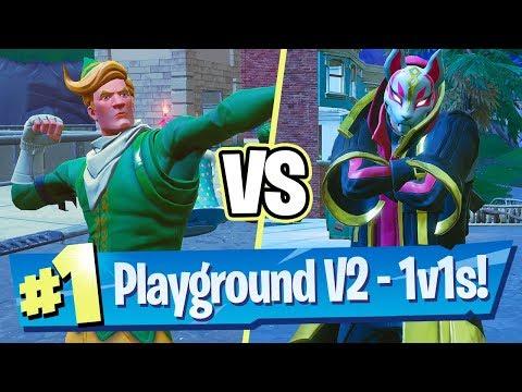 Fortnite Playground V2 Gameplay - 1v1 W/ MiniMuka