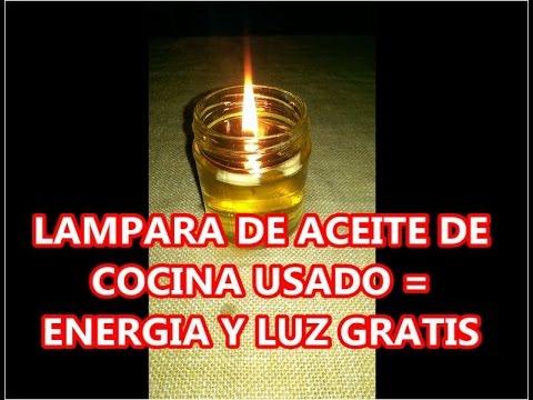 Luz gratis lampara de aceite usado asurekazani - Aceite usado de cocina ...