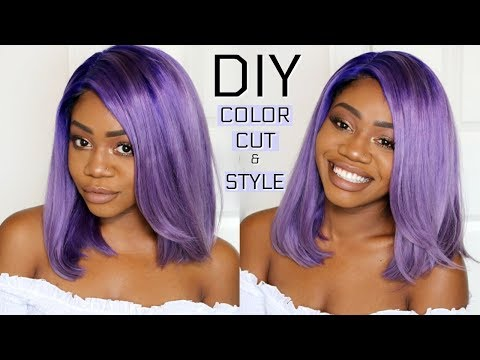 Lust for Lavender | DIY Hair Color Tutorial | + Cut & Style | Pastel Hair | HJ Weave Beauty Hair