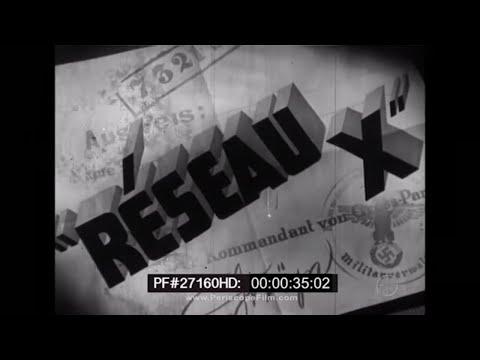 "French Resistance ""Reseau X"" - World War II 27160 HD"