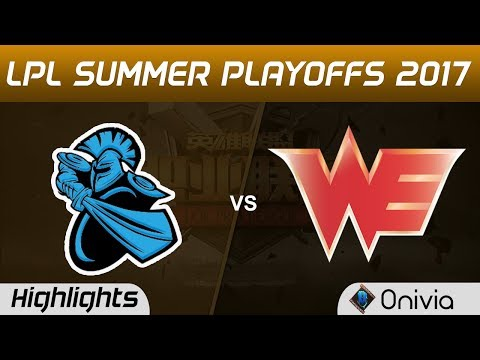 NB vs WE Highlights Game 1 LPL SUMMER PLAYOFFS 2017 NewBee vs Team WE by Onivia