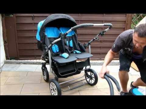 ZWILLINGS- UND GESCHWISTERWAGEN Twin Pram Stroller DUET