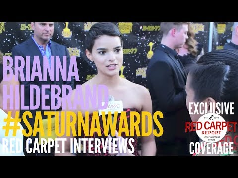 Brianna Hildebrand #Deadpool2 interviewed at the 43rd Annual Saturn Awards #SaturnAwards