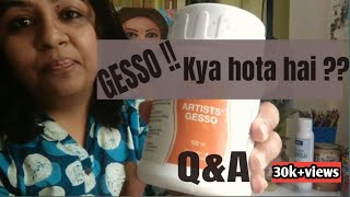 What is gesso !! Aapke Sawaal Mere Jawaab || Q&A LIVE
