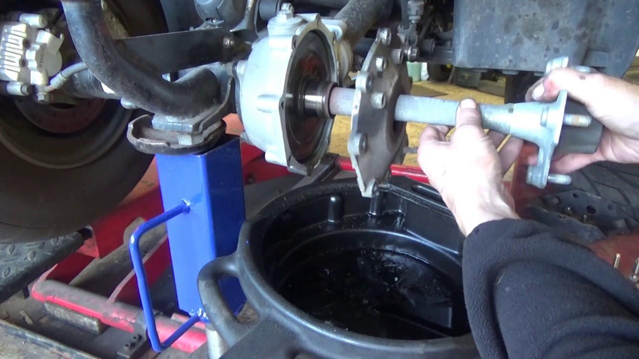 How To Remove Axle Kawasaki Bayou