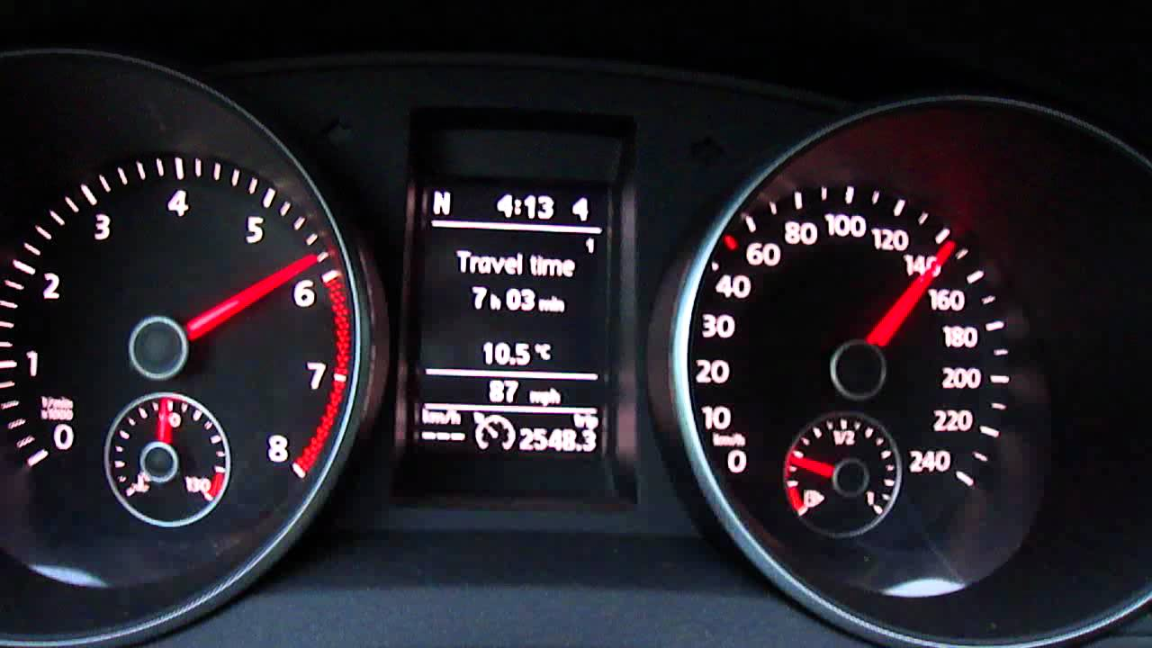 VW Golf 6 TSI 1.4 DSG (122bhp) 0-215 km acceleration - YouTube