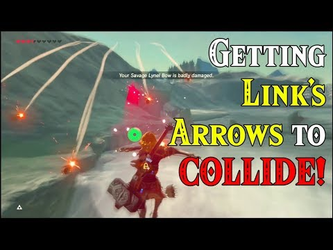 Getting Link's ARROWS to COLLIDE! Many KABOOMS in Zelda Breath of the Wild