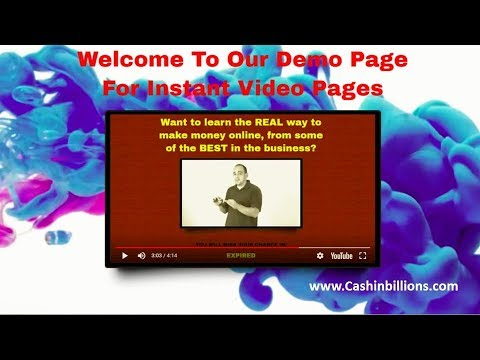 Instant Video Pages Review Demo | Youtube LeadPages | Promo Video Page Creator