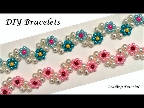 diy-floral-bracelets.-jewelry-making-tutorial.-beaded-floral-jewelry