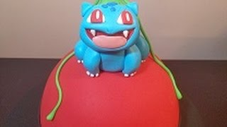 Pokemon Go! How To: Pokeball Surprise Inside Cake With Bulbasaur Topper!
