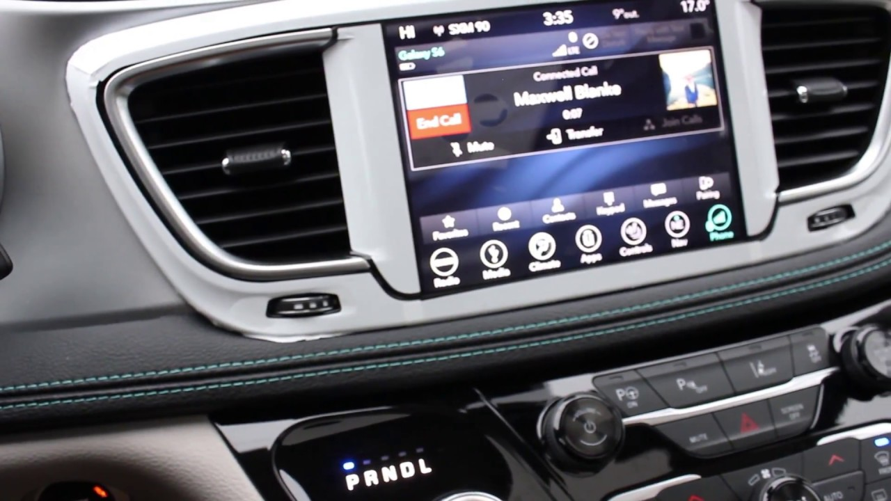 2018 Chrysler Pacifica Hybrid Plug In Charger Uconnect 8 4 Bluetooth Pairing