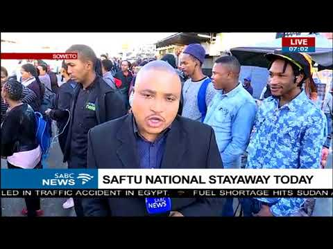 Some workers going to work as usual as they were not aware of SAFTU strike