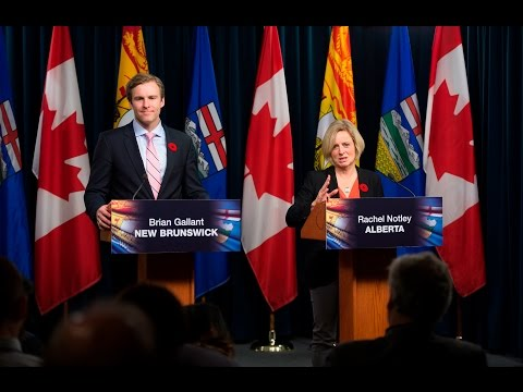 Premier Notley meets with New Brunswick Premier Brian Gallant - Oct 29, 2015