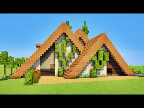 minecraft tuto maison moderne en bois p youtube. Black Bedroom Furniture Sets. Home Design Ideas