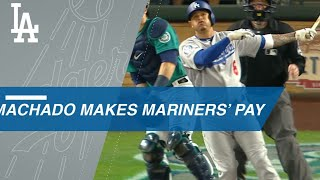 Manny Machado belts 2 homers to lead Dodgers