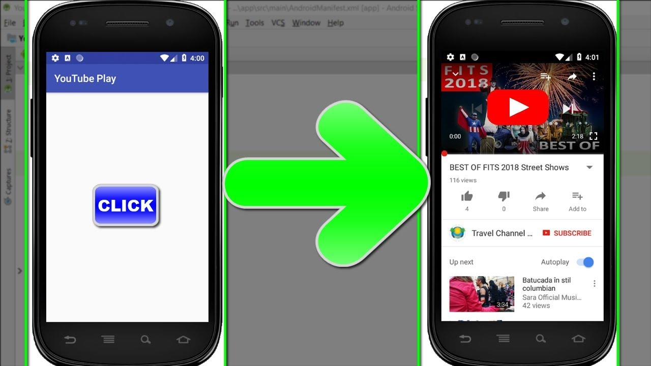 download youtube video in android programmatically