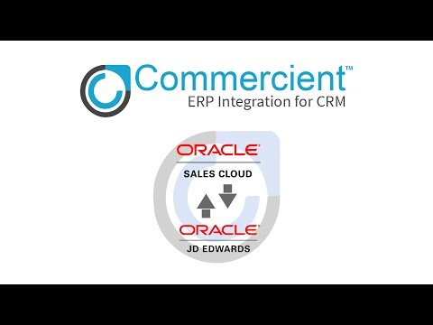 Commercient SYNC for JD Edwards and Oracle Sales Cloud CRM