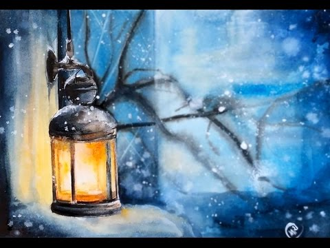 Watercolor Lantern Painting Demonstration Youtube