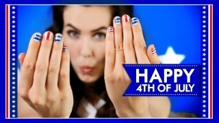 ♥ Nail Tutorial ♥ 4th of July INSPIRED using TAPE! Thumbnail