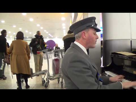 Chauffeur Plays Airport Piano Before The Boss Lands